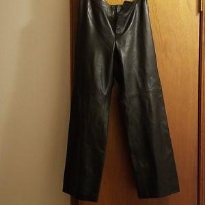 Dana Buchman lamb leather pants